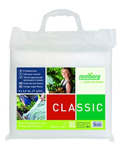 Romberg 10295009 Frühbeet Vlies S (Gartenvlies) - Frostschutz, UV-stabilisiert, 5 x 1,5 m, federleicht, weiß