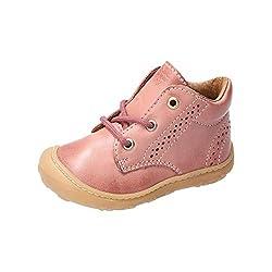 RICOSTA Mädchen Lauflern Schuhe Kelly von Pepino, Weite: Mittel (WMS), schnürstiefelchen flexibel Kids junior Kleinkinder,Rose,23 EU / 6 Child UK