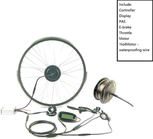 Umrüstsatz für Elektrofahrräder / 36V 350W elektrisches Fahrrad Umwandlung Kit Vorderrad mit LCD6 Anzeige Elektro-Fahrrad Umbausatz wasserdichtes Kabel Einfache E BIKE Nabe Motor, 28inch LCD-Sets inst