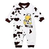 Binwwe Baby Strampler Jungen Mädchen Overall Kuh Babykleidung (9-12M, A)