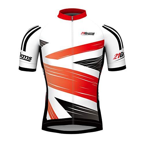 21Grams Maillot Ciclismo Hombres Manga Corta Rojo Británico Campeón Bandera Bicicleta Camiseta...