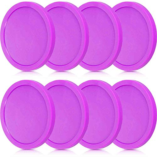 Buy Gejoy 8 Pieces Air Hockey Pucks Replacement Round Pucks for Game Tables, Equipment, Accessories ...