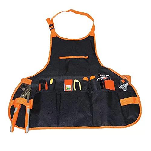 Wenyounge Bolsa de Herramientas eléctricas para Brocas Destornillador Bolsa de cinturón de Herramientas de Cintura Bolsa de Herramientas roja y Amarilla de Dacron con Bolsillos para Trabajadores
