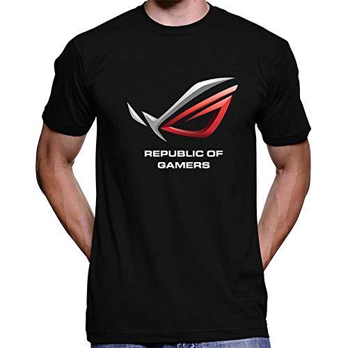 ASUS Republic of Gamers New T-Shirt Funny Unique Design Mens Round Neck Tees