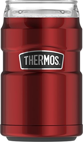 Thermos Stainless King Can Insulator with 360 Degree Drink Lid, Cranberry