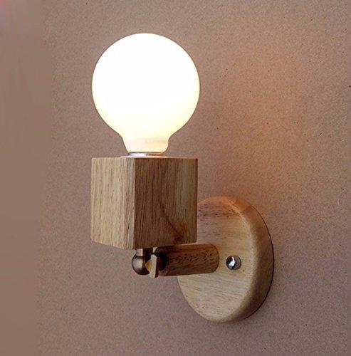YU-K Appliques en bois moderne et minimaliste salon chambre à coucher Chambre d'étudier l'activité de l'allée d'escaliers wall lamp