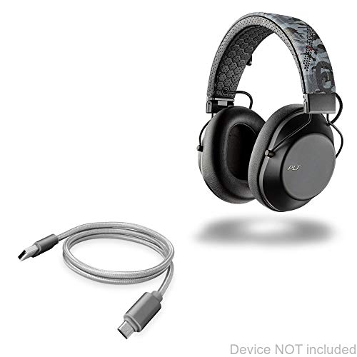 BoxWave Cable for Plantronics BackBeat Fit 6100, [Micro USB DuraCable] Braided Micro USB Charging Cable for Plantronics BackBeat Fit 6100 - Space Grey