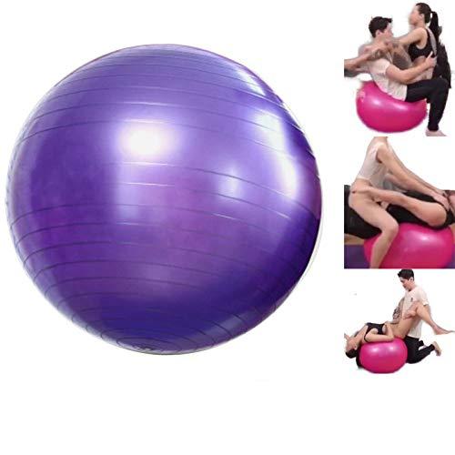 Bolas de PVC Fitness Yoga Ball engrosadas a prueba de explosiones Ejercicio Home Gym Pilates Equipo Balance Ball 75CM Púrpura
