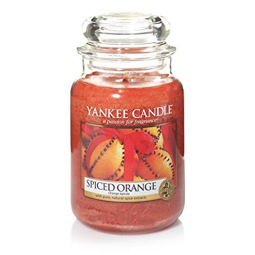 Yankee Candle Duftkerze im Glas (groß) | Spiced Orange | Brenndauer bis zu 150 Stunden