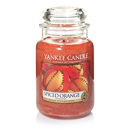 Yankee Candle Scented Candle | Spiced Orange Large Jar Candle | Burn Time: Up to 150 Hours