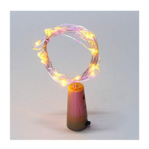 Vino Corcho De La Botella Luces De Cadena, 10 LED Luz De Navidad Energía De La Batería, Para La Boda Del Partido De Navidad Luces De La Botella De Halloween Decoración De La Barra,Warm yellow,12pcs