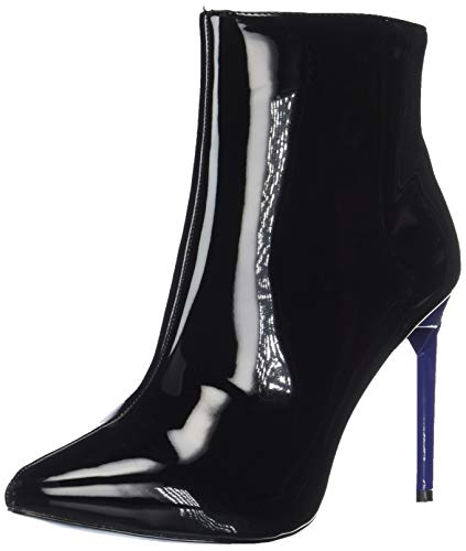 BCBGeneration Women's Helen Bootie Ankle Boot, Black Patent, 6 M US