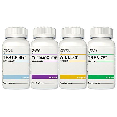 Xtreme Cutting Stack - Test-600x, ThermoClen, Winn-50, Tren 75-1 Month Supply from Anabolic Research