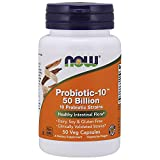 NOW Supplements, Probiotic-10, 50 Billion, with 10 Probiotic Strains, Strain Verified, 50 Veg Capsules