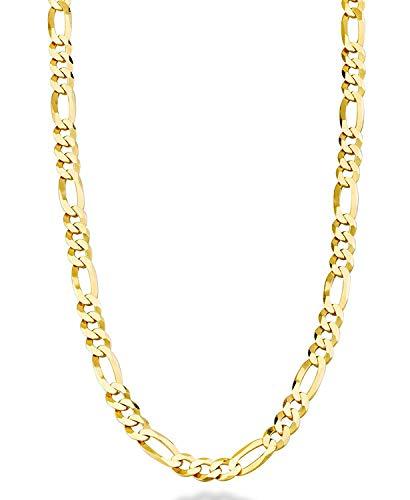 Collar de Cadena de Oro de 24 Quilates con diseño de figuraro, para Hombres y Mujeres, de la Marca Dubai, Hecho en Estados Unidos, Regalo de 61 a 71 cm
