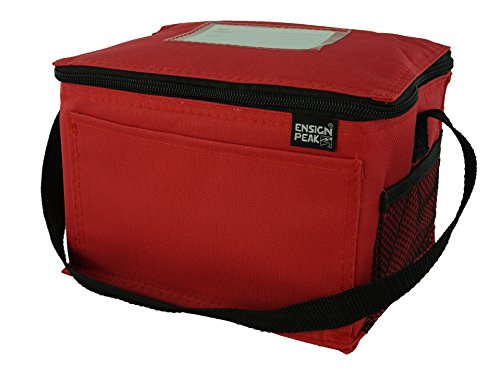 Insulated Lunch Cooler Bag, Red