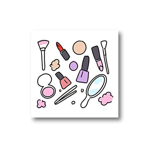 LEMON LOCO Imán de nevera con impresión de belleza | Imán de maquillaje para artista o esteticista, imán de maquillaje ilustrado a mano para MUA