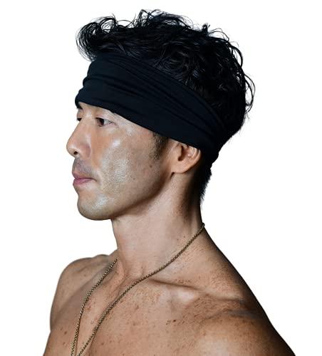 【Amazon限定ブランド】SIDE0Z ヘアバンド ヘッドバンド スポーツ 洗顔 メンズ ユニセックス (ブラック)