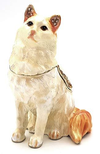 Caja de píldoras con forma de gato, idea de regalo, decoración, joyero, joyero, caja para pastillas, caja de metal para collares, anillos, pendientes, caja para joyas