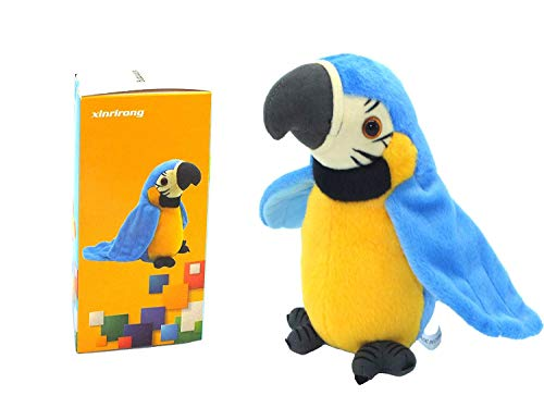 Talking Parrot No Matter What You Say Will Repeat What You Say Funny Learning Good Helper Bring You Happiness!Parrot Toys! Speaking Parrot.Talking Parrot Funny Pronunciation Electric Animal Plush Toy