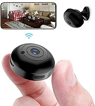 OUCAM Mini WiFi Spy Camera 1080P Audio and Video Recording Live Feed Wireless Hidden Spy Cam Nanny Camera/Auto Night Vision/No Light Night Vision/Motion Activated Alarm 2021 Upgraded Phone APP