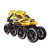 HHYK Pattini a rotelle, Scarpe da Pattinaggio di velocità Professionali, Pattini for Bambini for Adulti, Pattini in Linea, Scarpe da Corsa con Ruote Grandi (Color : Black, Size : 46)