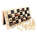 HJHJ ajedrez Creativo Juego De Ajedrez Magnético Conjunto De Ajedrez De Madera Plegable Piezas De Ajedrez Artesanal Piezas De Ajedrez De Madera Sólida Regalos de ajedrez (Color : Medio)