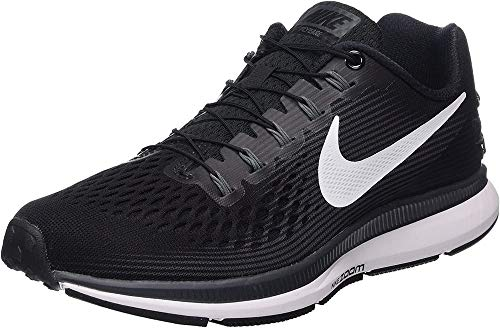 Nike Women's Air Zoom Pegasus 34 Flyease Running Shoe (6 W US, Black/White-Dark Grey)