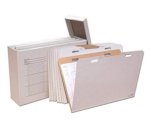 AOS Home Office Vertical Flat File Organizer - Stores Flat Items up to 24