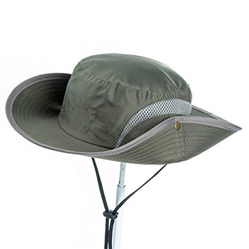 Chapeau Chapeau d'été, Sun Hat Hommes Anti-UV Bord Large Bouton Réglable Vent Corde Respirabilité Extérieure, 4 Couleurs en Option (Couleur : # 3)
