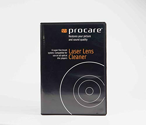PROCARE Laser Lens Cleaner, Ideal For CD Player, DVD Player, Optical Disc Drive, Safe And Effective 6 Brush Dry System
