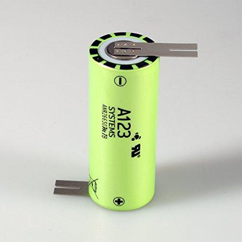 accu-by-seidel A123 Systems LiFePO4 Lithium-Eisen-Phosphat Akku mit Z-Lötfahne ANR26650M1B 3,3V 2500mAh in Original zertifizierter Industrie Qualität
