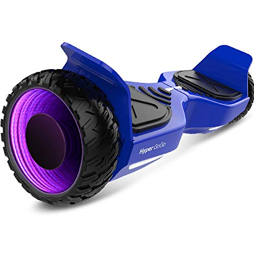 HYPER GOGO Hoverboard Offroad SUV 6.5' Solid Tire Two-Wheels Self Balancing Scooter 3D Wormhole Flash Motor UL2272 Certified Hover Board with Wireless Bluetooth and LED Lights for Adult and Kids Blue