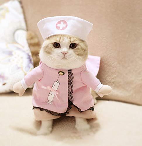 Smoro Traje de Ropa de Enfermera Sexy Trajes súper Dulces para Gatos Cachorros