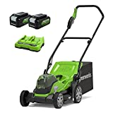 Cortacésped sin cable Greenworks G24X2LM36K4x (Li-Ion...