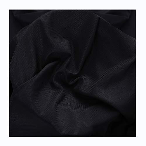 Tiene Elasticidad Color Puro Transparente Paño de Forro de Gasa DIY Decorativo Forro de Falda de Punto (por Metro)(Color:Negro)