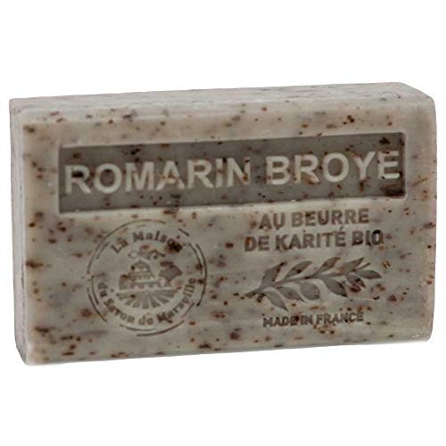 Französische Seife, Traditionelles Savon de Marseille - Crushed Rosemary (Romarin Broye) 125g