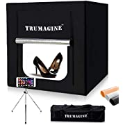 "Professional 24""x24""/60x60CM LED Photo Lighting Studio Shooting Tent Box Kit in a Box - 4 Seamless Backdrops,Camera Tripod,Travel Bag all included"
