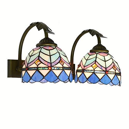 2Köpfe mediterranen Badezimmer Wandleuchten ägäis Tiffany Schlafzimmer Nachttische Wandleuchter vorne Spiegel Wand Leuchten