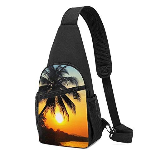 Hdadwy Sunrise On Sea, Vietnam Hombro Mochila Sling Chest Bag Crossbody Bag Cover Pack Mochila
