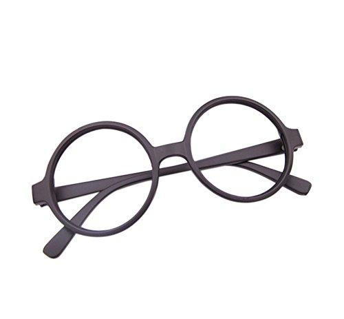 Demarkt Retro ronde bril montuur brilmontuur doorzichtig bril decoratiebril