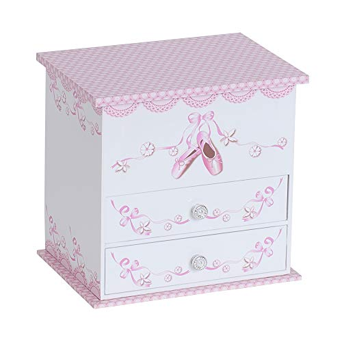 Mele & Co. Angel Ballerina Music Jewelry Box for Girls, Necklace and Earring Organizer