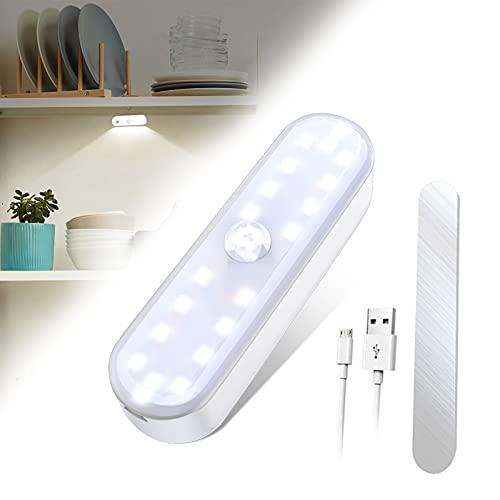 Luz Armario 20LED, Mirapretty luz armario sensor movimiento, luz led armario, Lámpara Nocturna Ideal para Armario, Pasillo, Escalerav, Cocina, Garaje