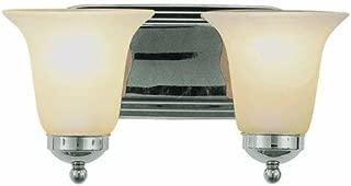 Trans Globe CB-3502 BN Bel-Air Contemporary Bath Bar Light, Brushed Nickel Housing, Marbleized Glass Shade, 2 Lamps, 100 W Medium