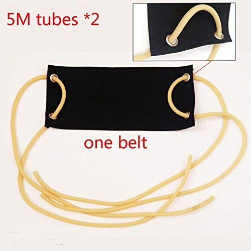 Generic 8x13MM Power Physical Training Latex Rubber Tube Fitness Resistance Band Elastic Rope Bungee SlingsColor 5M Set