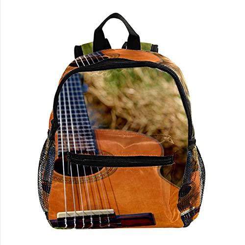 HANDIYA Sac à Dos Enfant Instrument à cordes de guitare Mini Sacs D'école Maternelle pour Garçons Filles 2-6 Ans 30 CM