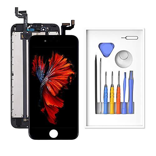 Catlyn Kompatibel mit iPhone 6S Display Schwarz ersatzbildschirm mit QHD + 2K-Auflösung, 120-Hz-Aktualisierungsrate, 1 Milliarde Farbdisplay-Technologie LCD Touchscreen Display und Augenschutzsystem