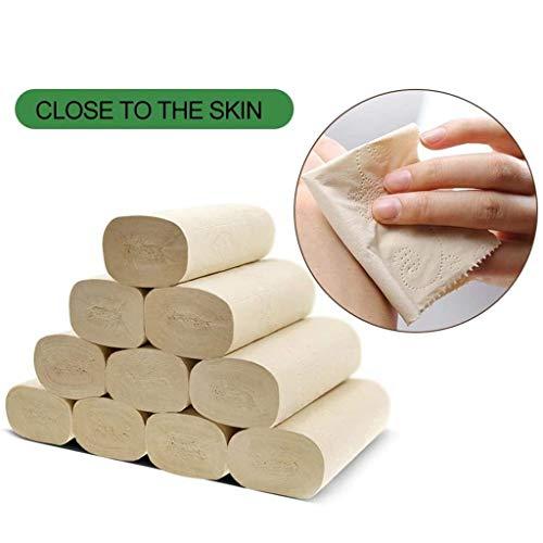 Wewe 10 rollen, gewatteerd, wc-papier, glad, voor de huid, biologisch afbreekbaar, voor de badkamer