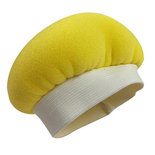 Bodhi2000 Voiture polisseuse Tampon éponge Polissage Bonnet Tampon de Polissage Coque pour épilation à la Cire d'entretien, Éponge, Jaune, 5-6inch