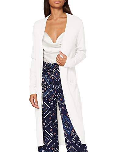 Vila Viril L/s Open Knit Cardigan-Noos, Alyssum Blanc, S Femme